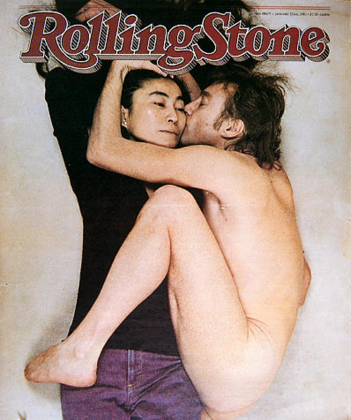 John Lennon & Yoko Ono photographed by Annie Leibovitz for Rolling Stone Magazine December 8, 1980